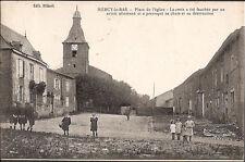MERCY le BAS (54) - Place de l'Eglise-La Croix fut fauchée par un avion allemand