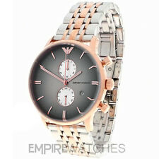 *NEW* MENS EMPORIO ARMANI GIANNI ROSE GOLD STEEL WATCH - AR1721 - RRP £399.00