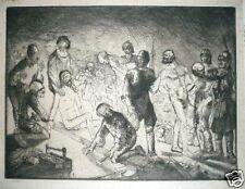 Bernard Étienne Hubert Naudin Gravure Originale Signée Châteauroux