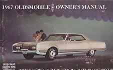 1967 vintage original car owners manual - OLDSMOBILE - DELTA 88 - 98