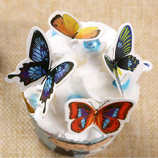 50x Butterflies Wedding Birthday  Rice Wafer Paper Cupcake Toppers Nice JLAG