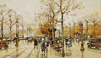 The Trocadero, Paris Painting by Eugene Galien-Laloue Reproduction