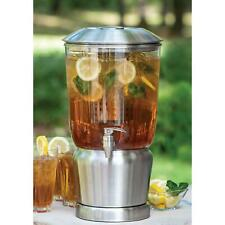 3-Gallon Beverage Dispenser with Infuser In Silver