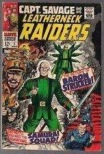 CAPTAIN SAVAGE AND HIS LEATHERNECK RAIDERS #2 MARVEL 1968 ORIGIN OF HYDRA VF+