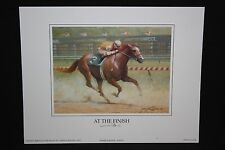 "AT THE FINISH Horse Print James L. Crow 9"" x 7"" Keeneland Lexington KY"