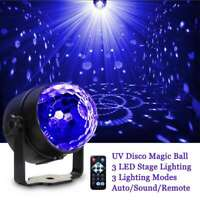 UV Effect Magic Ball Stage Light with Remote Auto Sound Control Disco Party Club