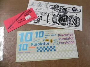 #10  PUROLATOR  DECALS 1/24TH