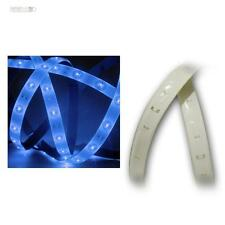(9,33€/m) LED Stripe 1,2m Blau, PCB weiß, 12V DC, IP44, 60 SMDs Lichtband