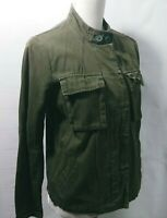Ecote Military Jacket Size Small Army Green Pocket Long Sleeve Causal Women
