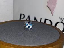 Pandora Charm en plata de ley Brillo Transparente y Azul REF. 798487C02