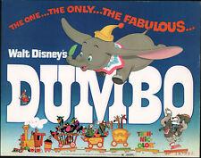 DUMBO original DISNEY 11x14 glossy lobby card movie poster