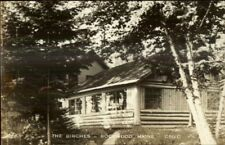 Rockwood ME The Birches Real Photo Postcard
