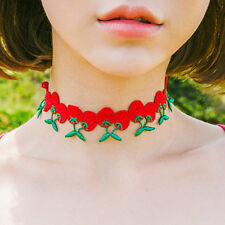 Cherry choker,sexy choker for women,fruit pattern chocker,red color choker