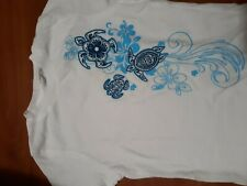 Delsol Girl Tee Tribal Turtle (Youth Large) See description for item specifics