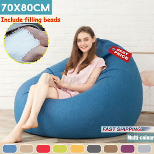 New Kids Adults Bean Bag Couch Chairs Sofa Lazy Lounger EPS Beads Filli