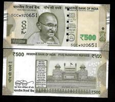 """Rs.500/- Urjit Patel  Star Note """"L"""" Inset  Prefix 5CC  2017 - UNC  LATEST"""