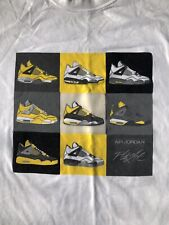Air Jordan retro 4 lightning T SHIRT XL Rare Tee Tour yellow 2006 IV Thunder
