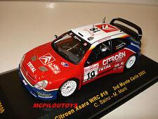 IXO RAM108 CITROEN XSARA WRC N°19 SAINZ - MARTI  3° MONTE CARLO 2003 au 1/43°