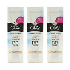 3 X Olay Natural White Miracle Fairness BB Cream SPF15 Fair 50ml