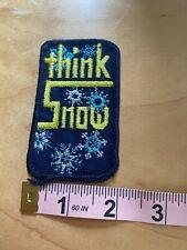 New listing THINK SNOW ~ Vintage Ski Patch ~