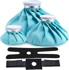 """Ohuhu 3 Pack 11"""" 9"""" 6"""" Reusable Ice Bags for Injuries w/1 or 2 Adjustable Wraps"""