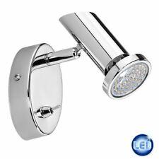 LED Wandleuchte Spot mit Schalter 2,3W LED Strahler Wandlampe Chrom NEU