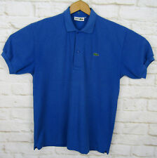 Vintage Chemise Lacoste Polo Shirt Blue Short Sleeve Mens Size Medium 8