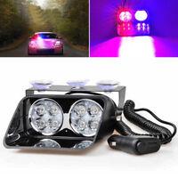8LED Car Truck Police Strobe Flash Light Dash Emergeny Flashing Mode Red/Blue