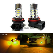 2x H11 H8 LED Bulbs High Power DRL SMD 5730 Fog Light Projector Golden Yellow