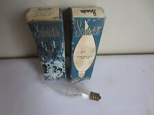 Lot of 2 Vintage Scintalite H400 60W 120V Candelabra Clear HBT1760KC Light Bulbs