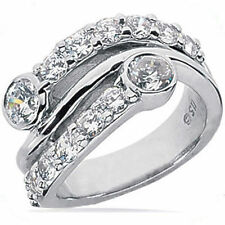 1.78 carat Right Hand Diamond Wedding Band 18k Gold Ring F-G color Si1 clarity