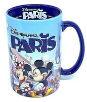 "Disneyland Paris Mickey Minnie & Friend 5"" Blue Disney Mug Cup Coffee Tea Drink"