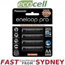 Panasonic Eneloop Pro 2550mAh, AA Rechargeable Batteries (4 Pack), SYDNEY