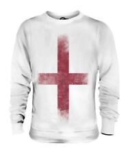 ENGLAND ST GEORGE FADED FLAG UNISEX SWEATER TOP ENGLISH FOOTBALL GIFT SHIRT