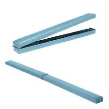 Turquoise Faux Leather Mobile Gymnastics Folding Balance Beam 2.1M Gym Training