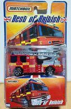 Matchbox Superfast 'Best of British' #6 06 MB402 Dennis Sabre Fire Engine Rescue