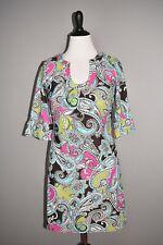 JUDE CONNALLY $228 Jude Cloth Paisley Short Sleeve Nancy Shift Dress Large