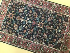 2x3 Navy Rust Farahan Persian Oriental Area Rug Small Hand Knotted Wool Entrance