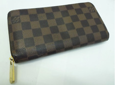 Louis Vuitton Damier Ebene Zippy Wallet N60015 Authentic Free Shipping Japan EMS