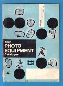 Vintage Your PHOTO EQUIPMENT Catalogue 1964-1965 AUSTRALIAN PHOTOGRAPHY 4/- 96pp
