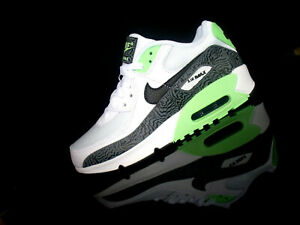 NIKE AIR MAX 90 Damen Sneaker weiß/schwarz/lime grün Gr.39