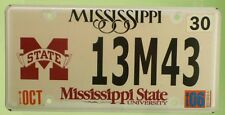 Targa USA License Plate Mississippi University Usata Originale no edicola