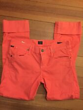 Citizens Of Humanity Orange Ankle Pants Women Sz 26