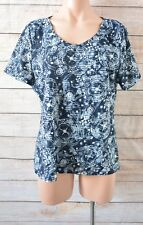 Regatta Top Sz 16 Large Blue White Short-sleeved T-shirt Blouse