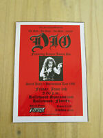 DIO  : SACRED HEART INTERMISSION TOUR 1986  : A4 GLOSSY REPRODUCTION POSTER
