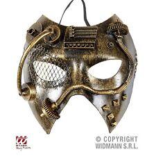 Steampunk Augenmaske Halb Maske Kupfer-Messing Fasching Karneval Industrie-Look