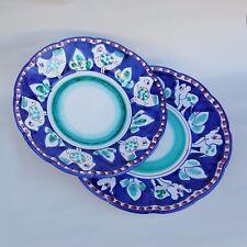 Vietri Servizio Piatti 2pz. in Ceramica Vietri 100% decorato a mano Blu