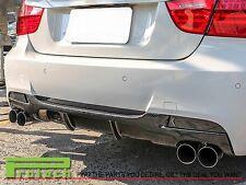 P Type Carbon Fiber Rear Diffuser fit 06-11 BMW E90 E91 335i M-Sport Bumper Only