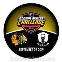 2019 Global Challenge Germany Dueling Puck Chicago Blackhawks vs Eisbären Berlin