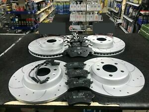 AUDI A7 3.0TDi QUATTRO SLINE SE DRILLED GROOVED BRAKE DISCS PADS FRONT REAR
